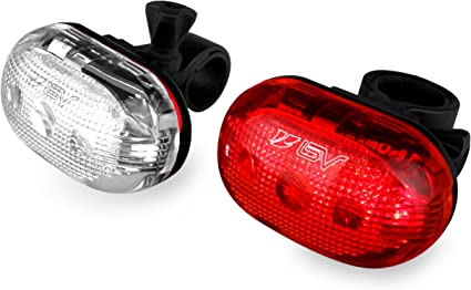 We... BV Bike Light Set Quick-Release Bicycle LED Headlight and Taillight Set