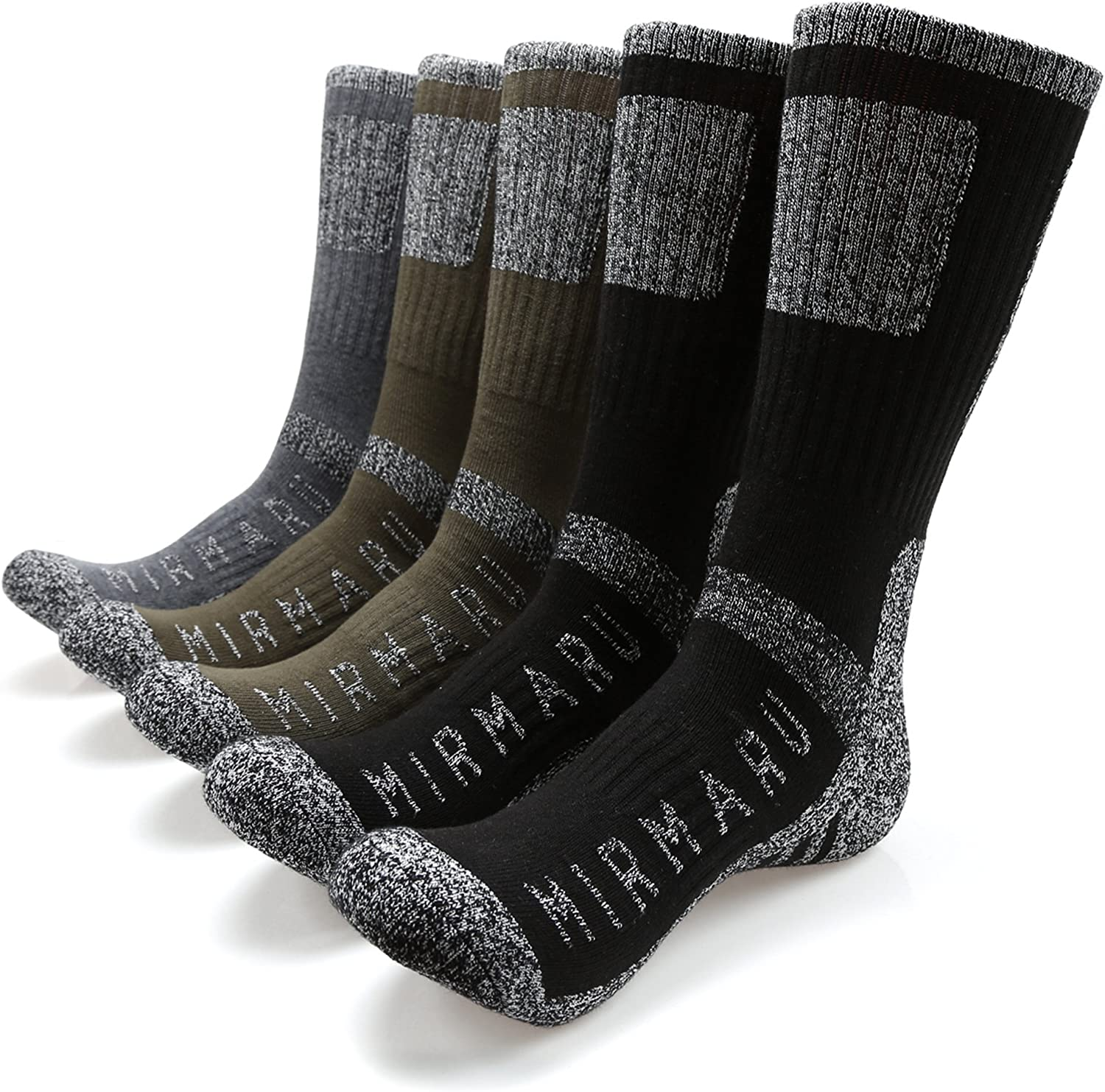 MIRMARU Men's Outdoor Crew Socks