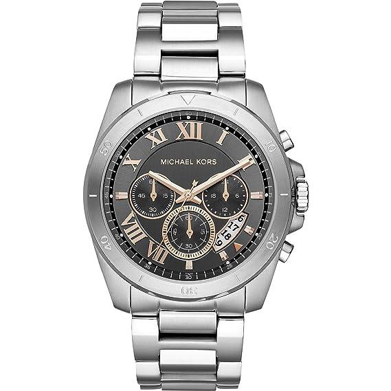 53a50a9e18189 Michael Kors Reloj Analogico para Hombre de Cuarzo con Correa en Acero  Inoxidable MK8609  Amazon