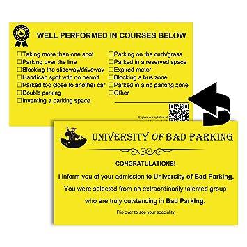 mr-label Bad Parking Visitenkarten 4 Notizen Schade Armen Parker ...