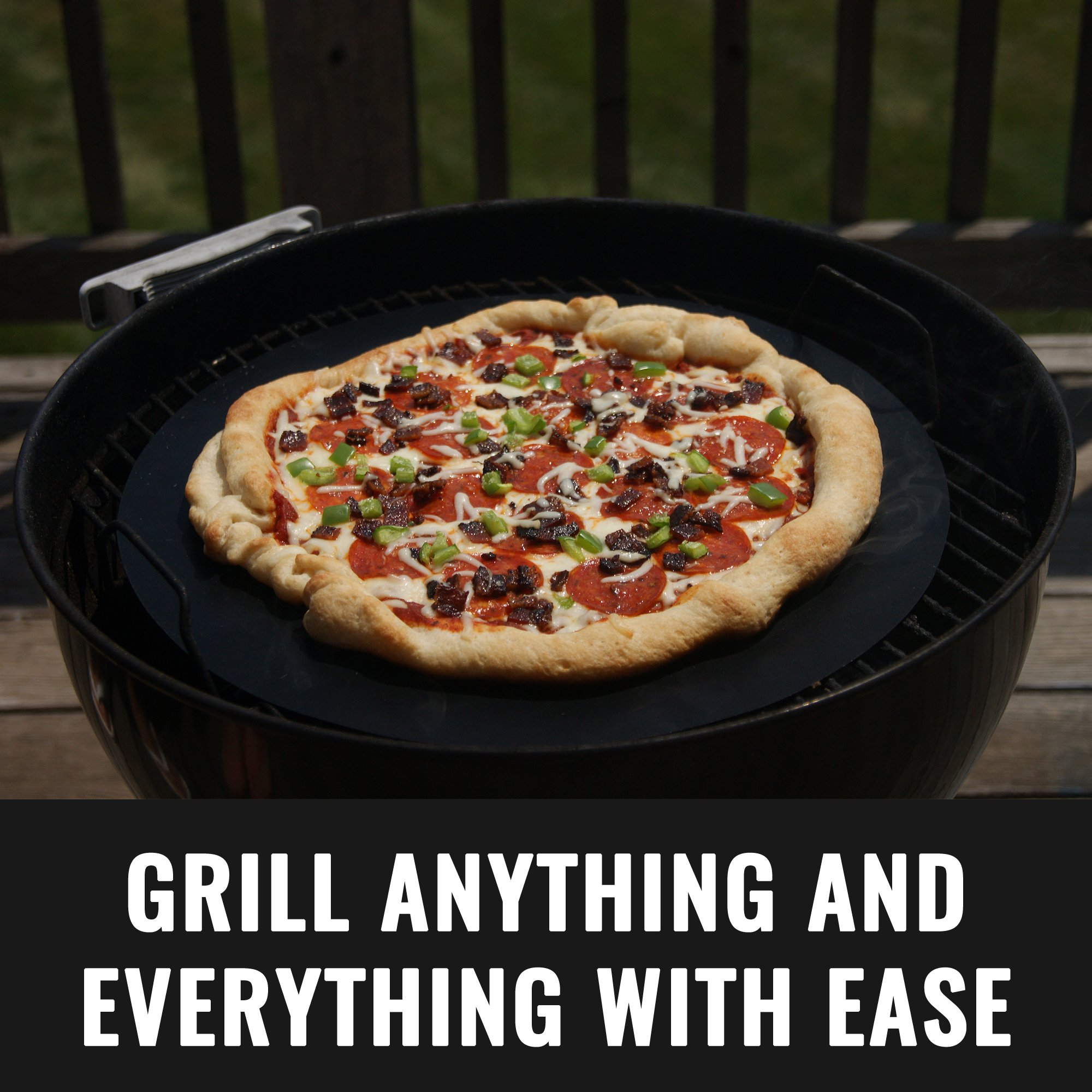 Grillaholics Grill Mat Round - As Featured on Rachael Ray Top Grilling Accessories - Set of 2 Nonstick BBQ Grilling Mats - 15 Inch (Round) by Grillaholics