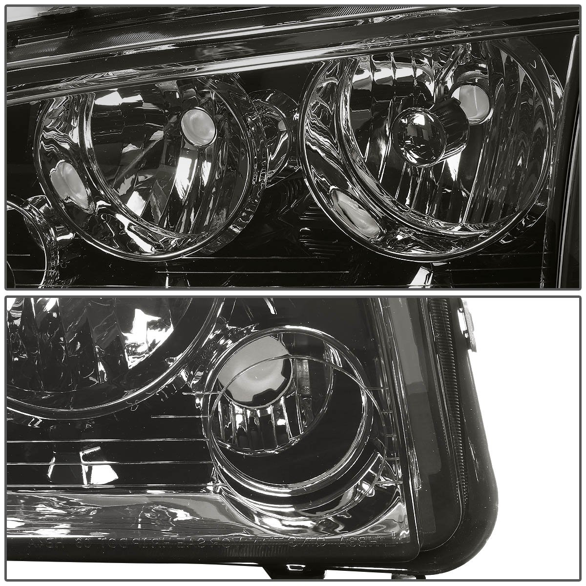 Driver and Passenger Side DNAMotoring HL-OH-CHA05-4P-SM-AM Headlight Assembly
