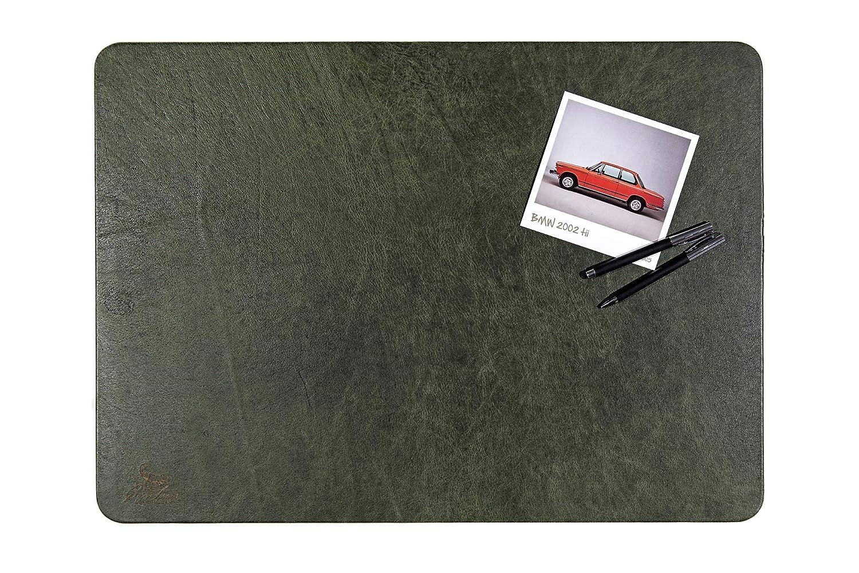 Sottomano da scrivania Centaur 40x60 cm fatto a mano in Germania pelle angoli arrotondati antiscivolo nocciola altri colori e dimensioni