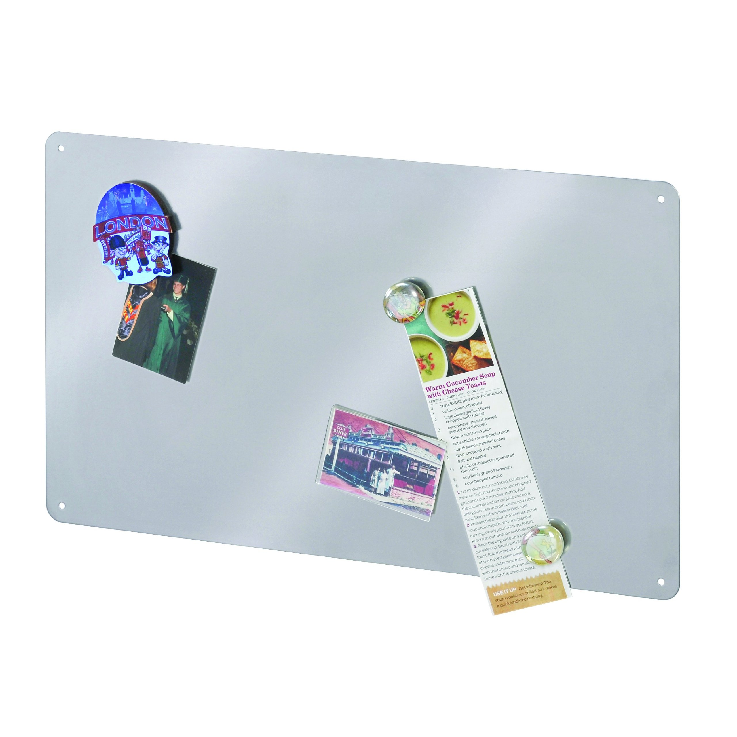 STEELMASTER Flat Style Magnetic Board, 18.5 x 11.5 Inches, Silver (270111950) by STEELMASTER (Image #2)