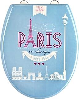 EISL Abattant WC en Duroplast Paris avec Frein de Chute et déclipsable, ED69PARIS, Multicolore, 2,2 Kg