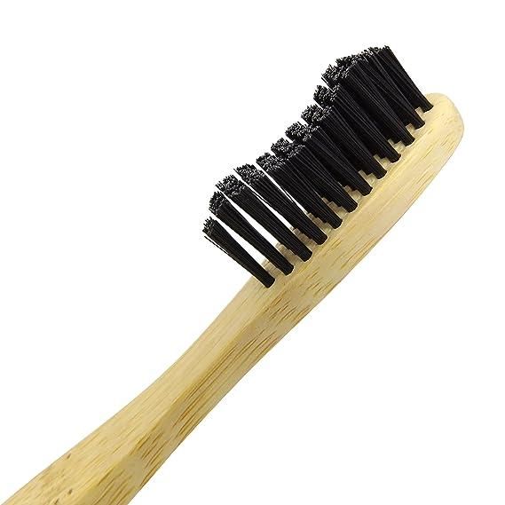 Niños infantiles cepillo de dientes de bambú-natural orgánica de madera ecológica amigable 100% cepillo de dientes reciclable biodegradable (Family Pack (x3 ...