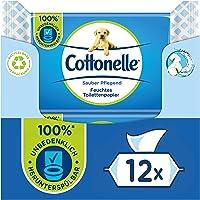 Cottonelle Fuktigt toalettpapper, rent vårdande – micellent vatten & bomullsdoft, biologiskt nedbrytbar, plastfri…
