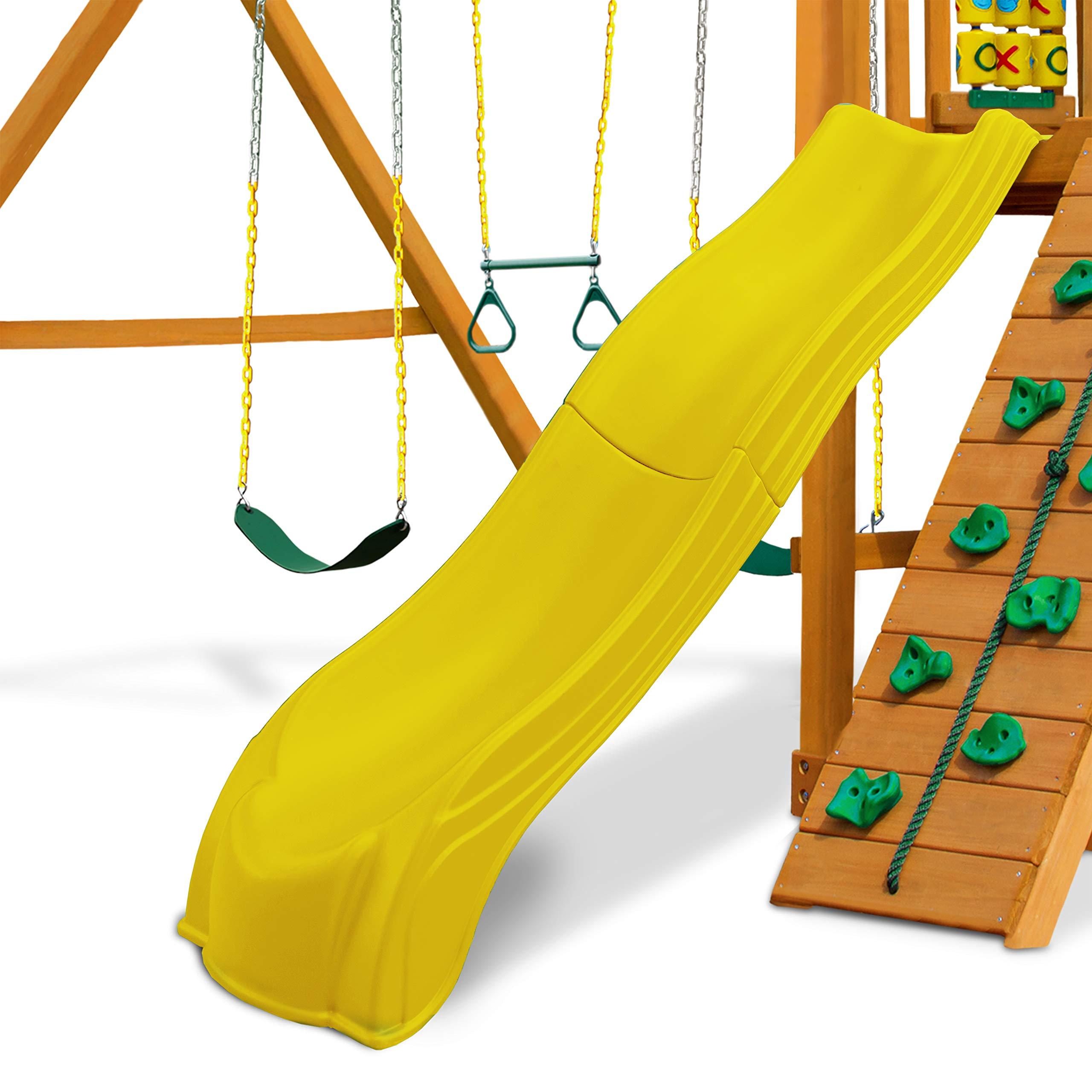 Swing-N-Slide WS 5031 Olympus Wave Slide 2 Piece Plastic Slide for 5' Decks, Yellow by Swing-N-Slide (Image #7)