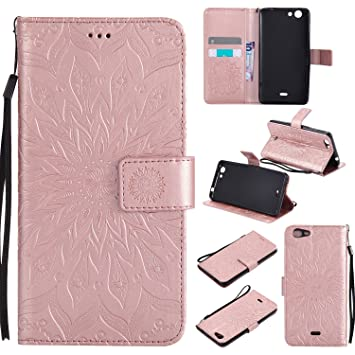 Wiko Pulp Fab 4 G PU Funda, Slim-fit Folio Smart cuero ...