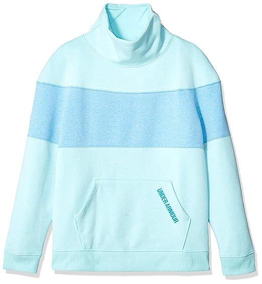 5c92ef5c Amazon.com: Under Armour Girls' Threadborne Fleece Slouchy Crew: Clothing