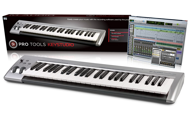 AVID KeyStudio Teclado 49 teclas (3,5 mm de salida de audio) de plata/negro incluyendo Pro Tools SE: Amazon.es: Informática