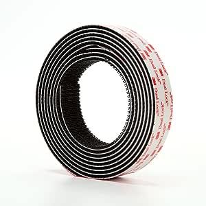 3M Dual Lock Reclosable Fastener TB3550, Black, 1 in x 10 ft, Type 250/250