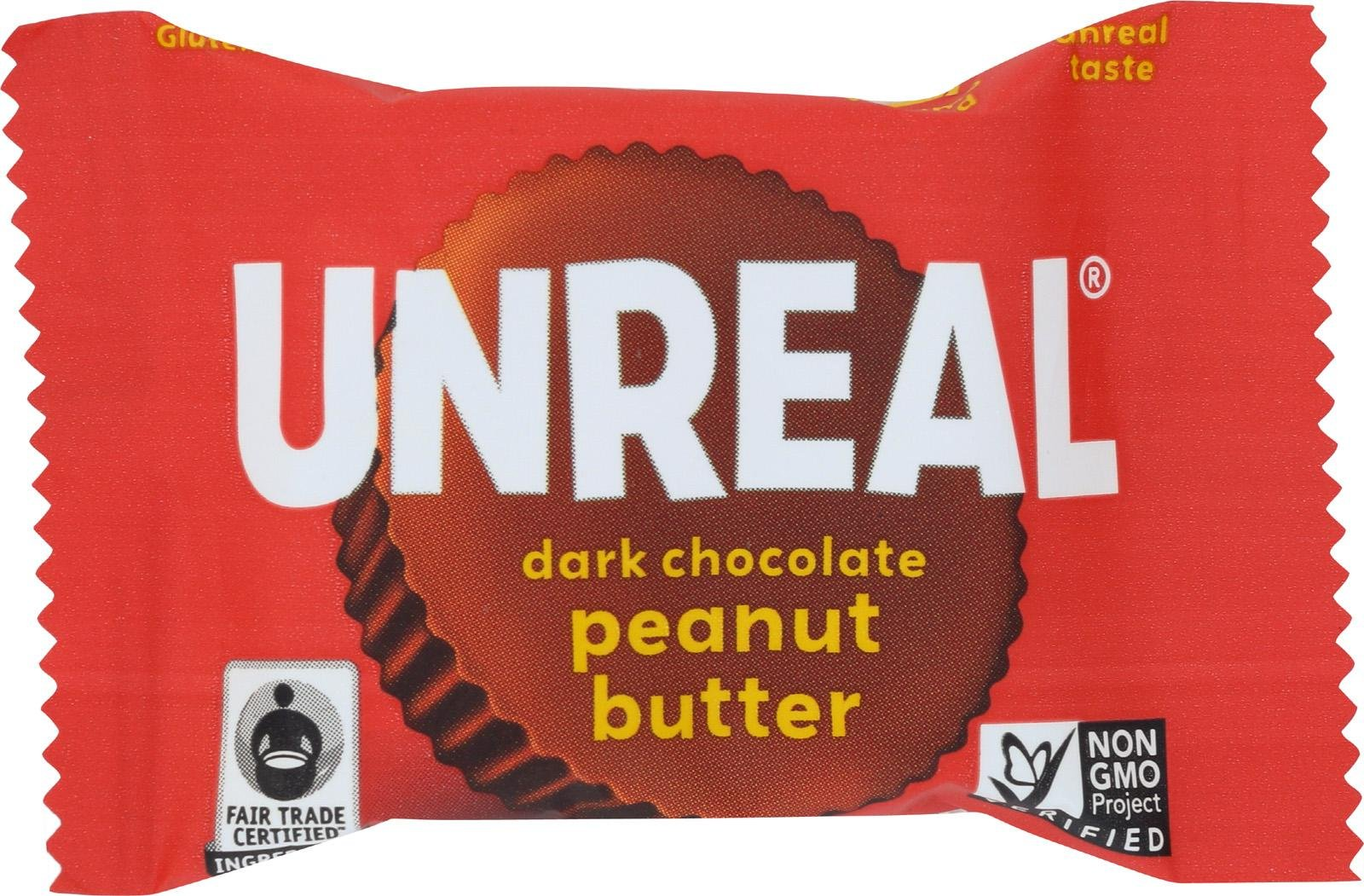 Unreal, Peanut butter Cup, Dark Chocolate, Mini, Pack of 40, Size - .5 OZ, Quantity - 1 Case