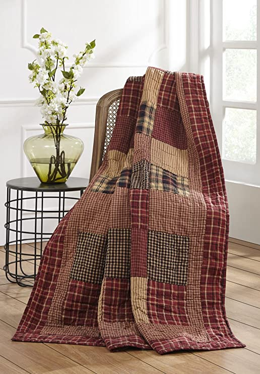 winter woodland home decor the collection.htm amazon com olivia s heartland rutherford quilted throw home  heartland rutherford quilted throw