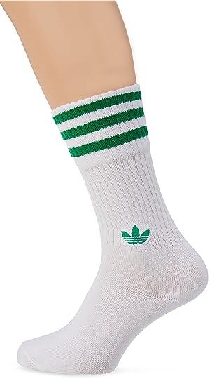 Adidas Solid Crew 2Pp Calcetines, Unisex Adulto, (vercen/Blanco / Verde), 39/42: Amazon.es: Deportes y aire libre