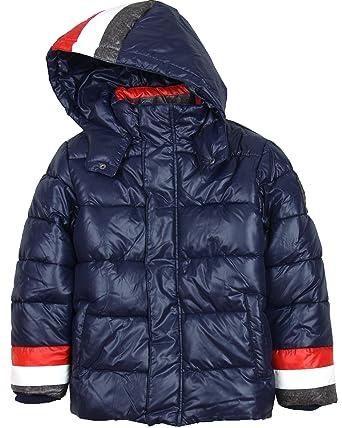 6c6e28e56ccf Amazon.com  Mayoral Junior Boy s Puffer Coat Stripes
