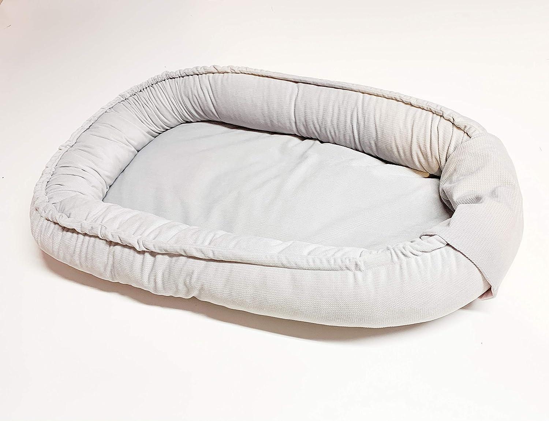 Babynestchen Kuschelnest Kokon Babykokon Nestchen Bettumrandung Grau Velvet