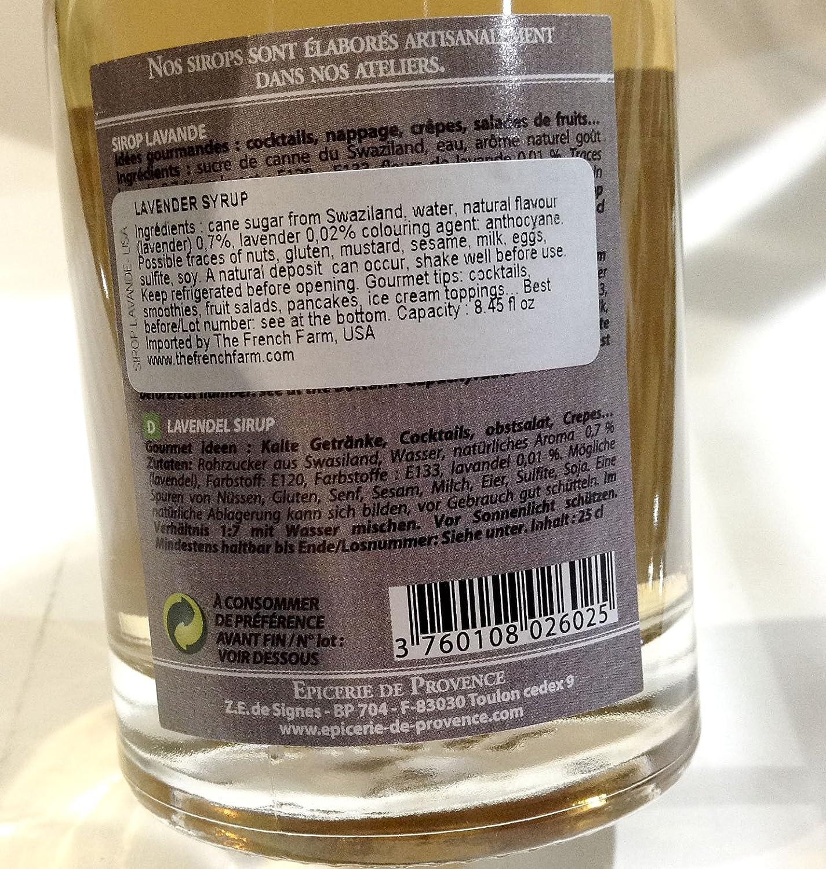 Amazon.com : Epicerie de Provence Lavender Flower Syrup - 8.8 fl.oz ...