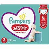 Diapers Size 3, 156 Count - Pampers Pull On Cruisers 360° Fit Disposable Baby Diapers with Stretchy Waistband, ONE MONTH…