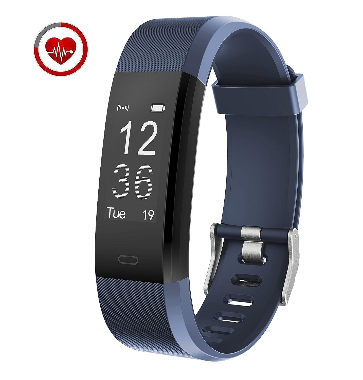 Vigorun Fitness Armband YG3 Plus Fitness Tracker mit Pulsmesser 14 Trainingsmodi Aktivitä tstracker Schrittzä hler Kalorienzä hler Schlafü berwachung fü r Android & iOS Blk115plus