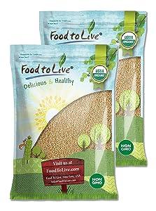 Organic Amaranth Grain, 25 Pounds - Whole Seeds, Non-GMO, Kosher, Vegan, Bulk