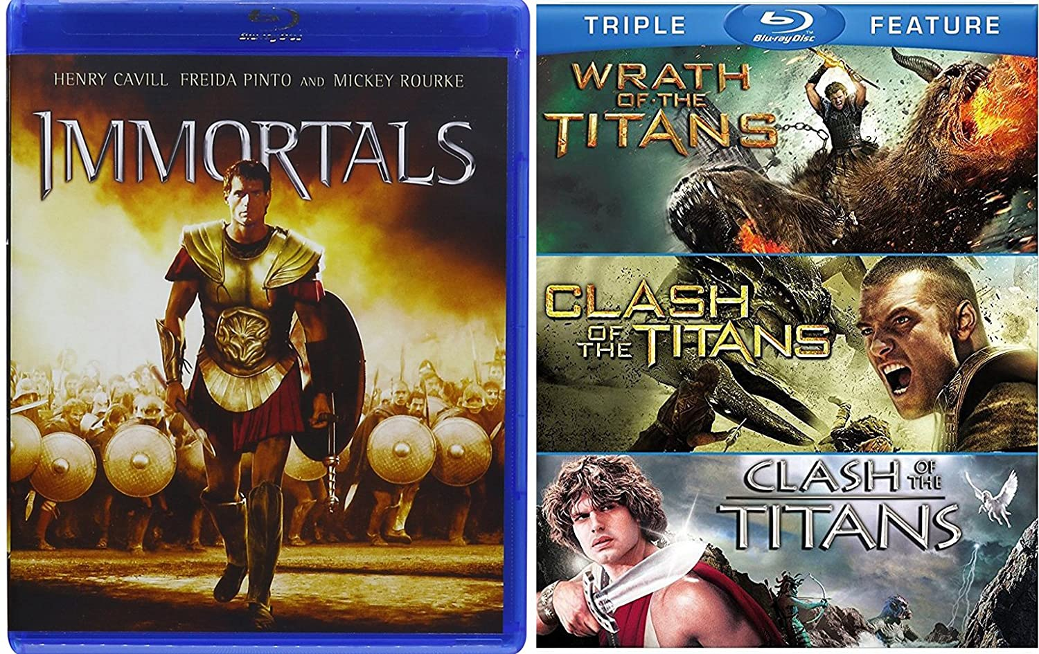 Amazon com: Immortals & Clash of the Titans / Wrath of the