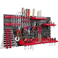 Opslagsysteem, wandrek, 78 x 39 cm, gereedschapshouders, opbergkast, extra sterke wandplaten, uitbreidbaar…