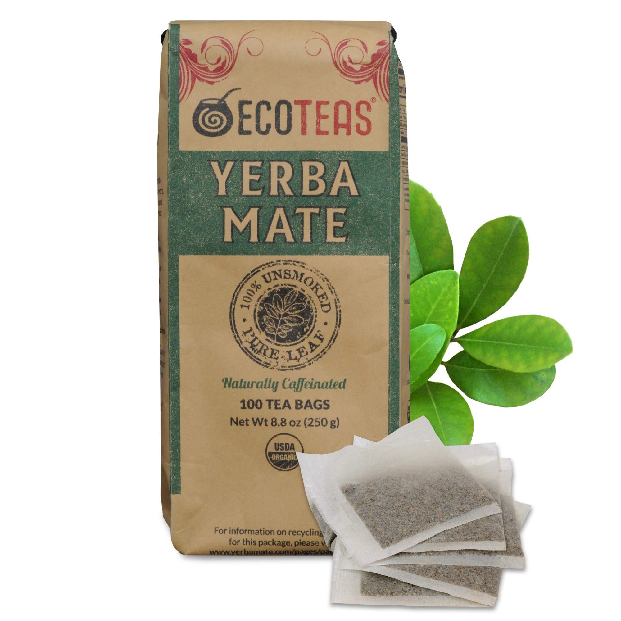ECOTEAS - Unsmoked Yerba Mate Tea - Yerba Mate Tea Bags - Yerba Mate Tea - Detox Tea - Hi Caf