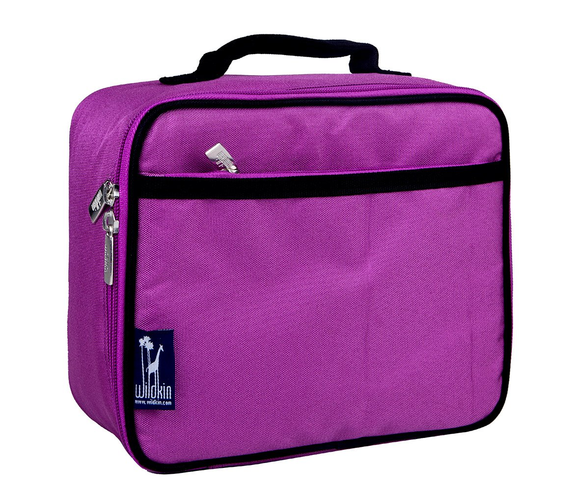 Mozlly Multipack - Wildkin OliPurple Radiant Orchid Birdies Insulated Lunch Box - 9.75 x 7 x 3.25 inch - Sturdy, Durable - Food Safe - PVC, BPA and Phthalate Free - Storage and Organization Pack of 6
