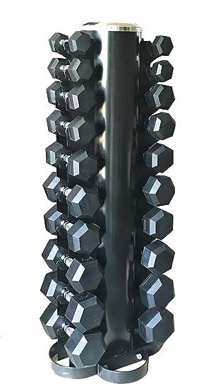 Cuerpo revolución vertical pesos, pesas hexagonales de árbol de rack – para almacenamiento de hasta