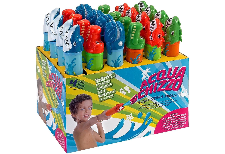 Globo Toys Globo–3767733,5cm 4sortiert Summer Fire Wasser Schlauch mit Tier Kopf in einer Box (One Size, 24)