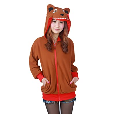 5bc44d3fe2a1 PALMFOX Cosplay Hoodie Collection Plush Animal Hooded Sweater Jacket Coat Sweatshirt  3D Christmas Hoodie Coffee
