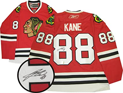 Patrick Kane Signed Jersey Dark Replica - Autographed NHL Jerseys at ... b64561b7d