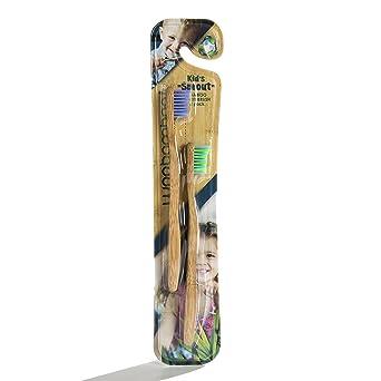 WooBamboo - Cepillo de dientes para niños, aprobado por dentista, recomendado por la madre