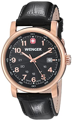 Wenger 011041108 - Reloj de pulsera hombre, piel, color negro: Amazon.es: Relojes