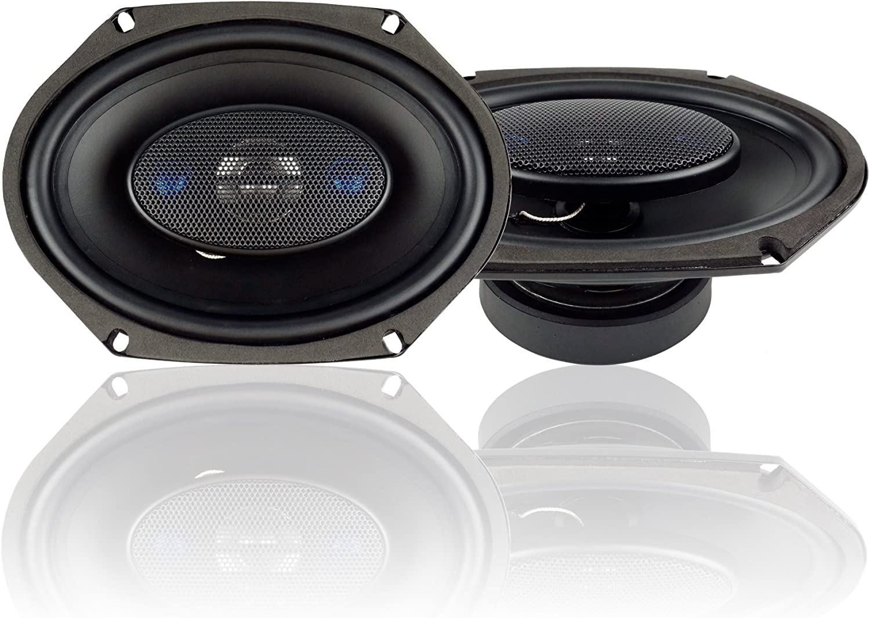 Set of 2 Blaupunkt 6 x 8-Inch 300W 4-Way Coaxial Car Audio Speaker