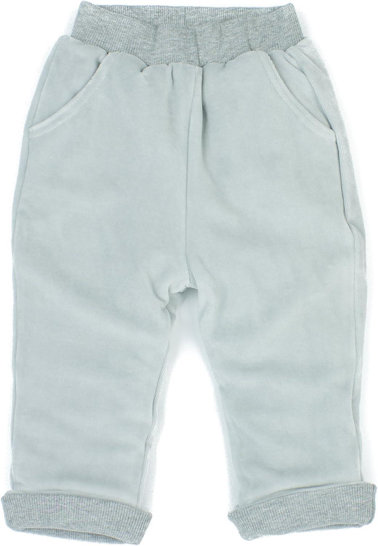 Grey Patachou Velour Baby Pants