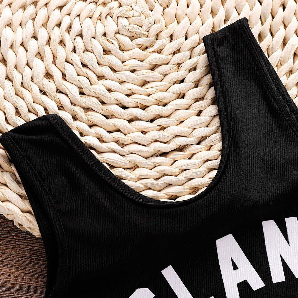 Fashion Infant//Toddler Girls One-Piece Swimsuit Rash Guard Black