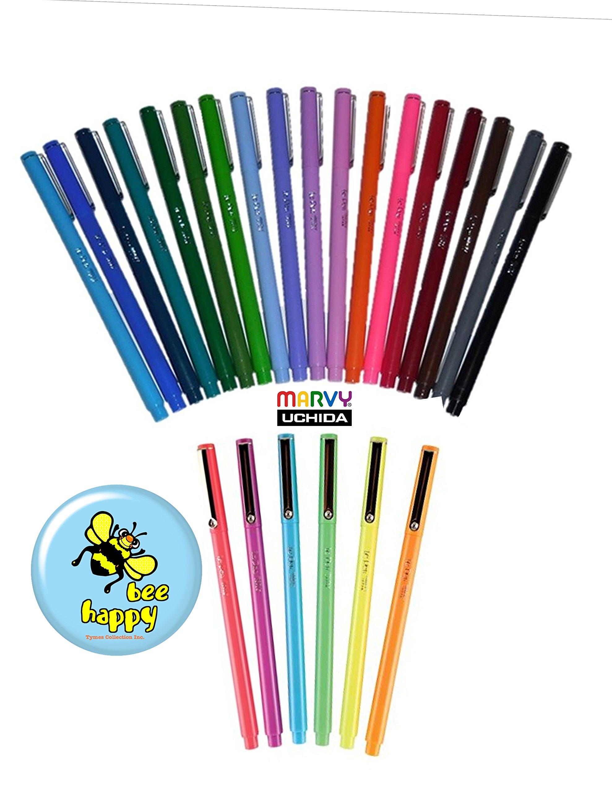 24 PACK of LE PEN colors (Le Pens + Fridge Magnet) AUTHENTIC UCHIDA OF AMERICA LE PENS
