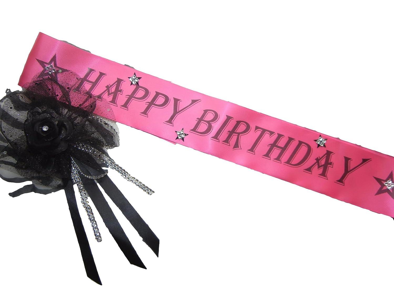 Amazon.com: Rosa Feliz cumpleaños Sash Y Hermoso Corsage ...