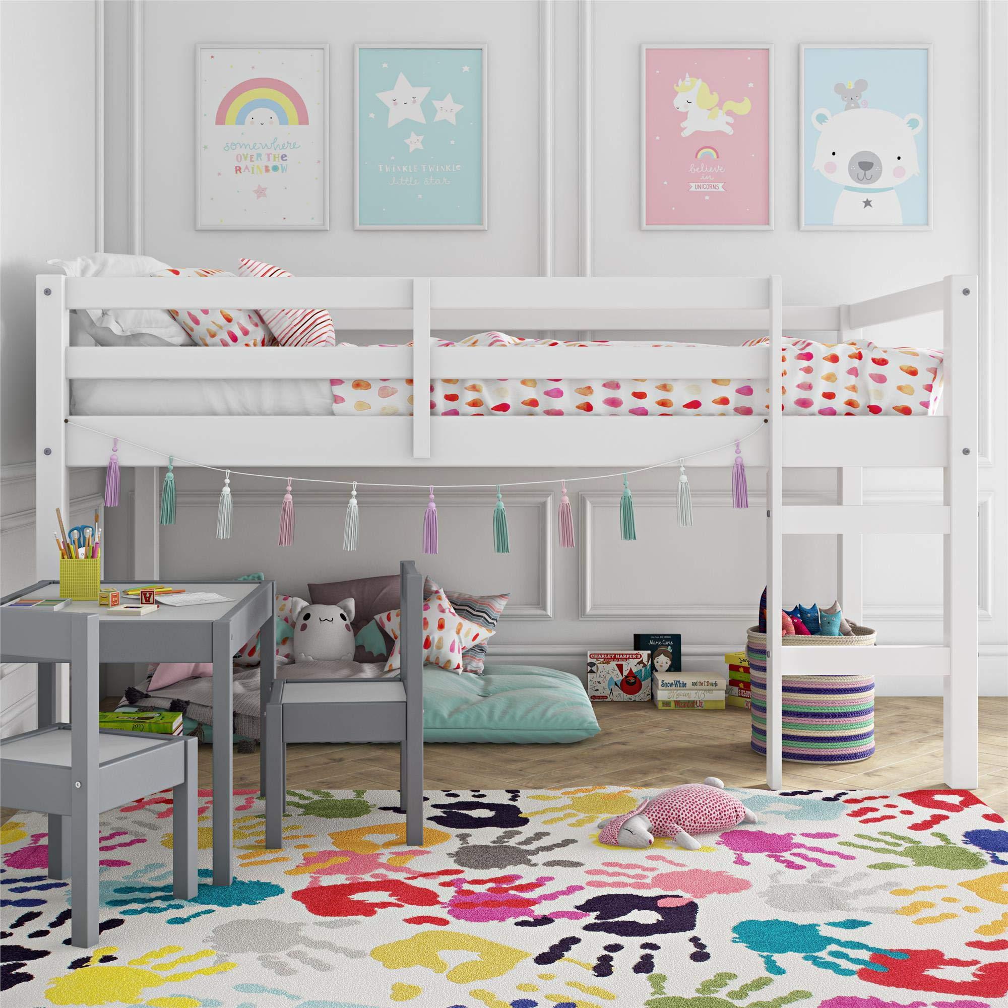 Dorel Living Milton Junior Twin Loft Bed, White by Dorel Living