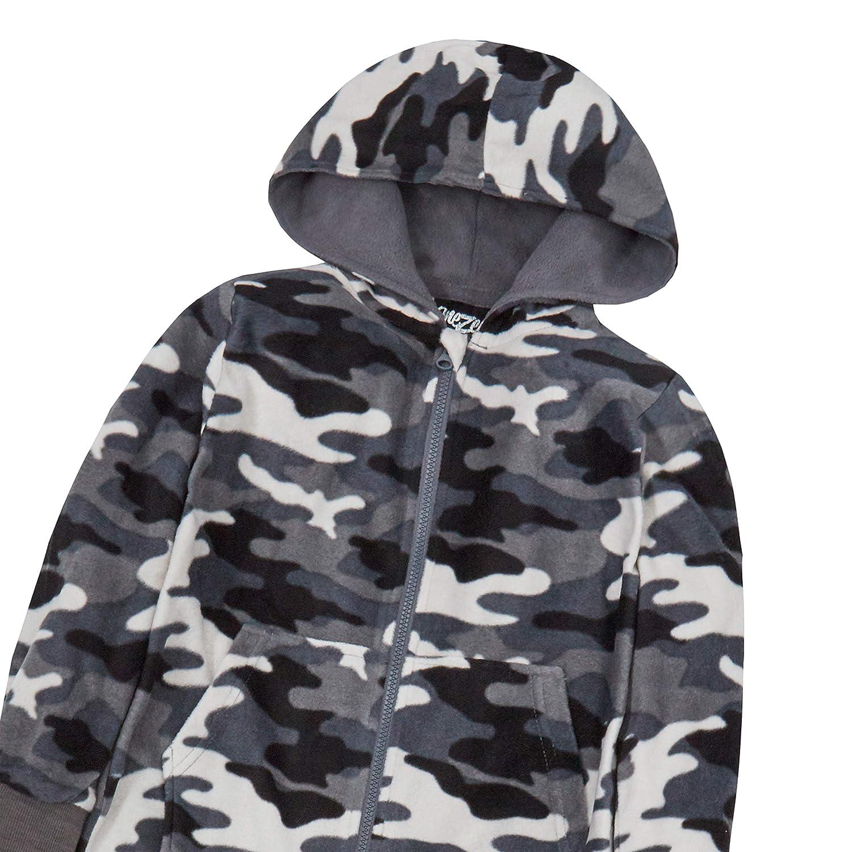 Metzuyan Boys Camouflage All in One Pyjama with Hood 7-13 Years