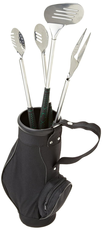 デザインImportsゴルフバッグとクラブ3 Piece BBQツールセット ブラック 21749 B006WSZO6Y  ブラック