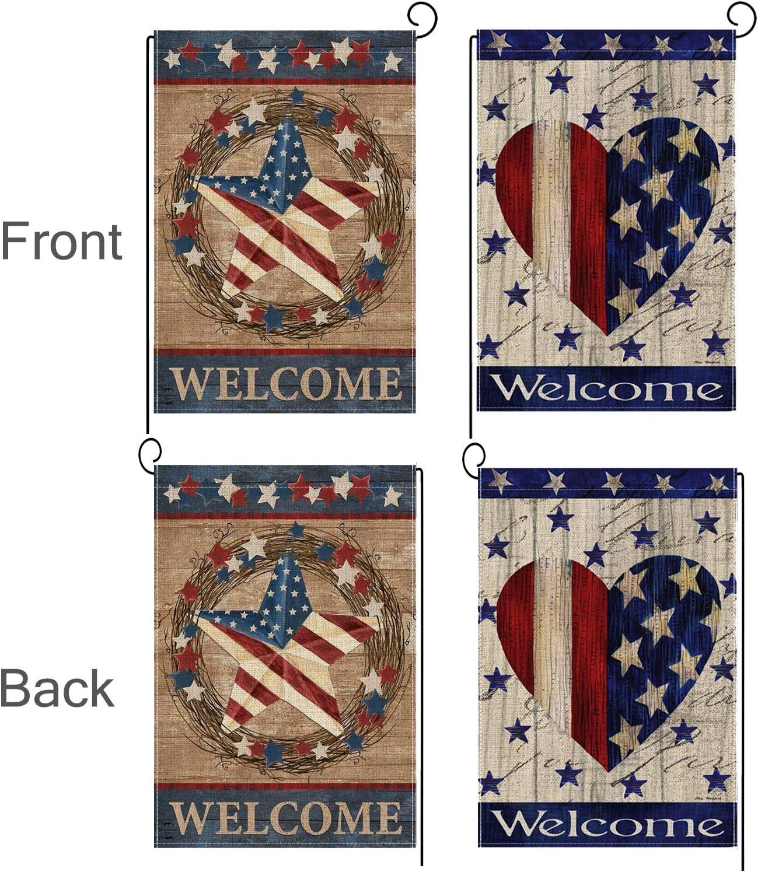 Amazon.com: Rertcioph - Banderas de jardín decorativas para ...
