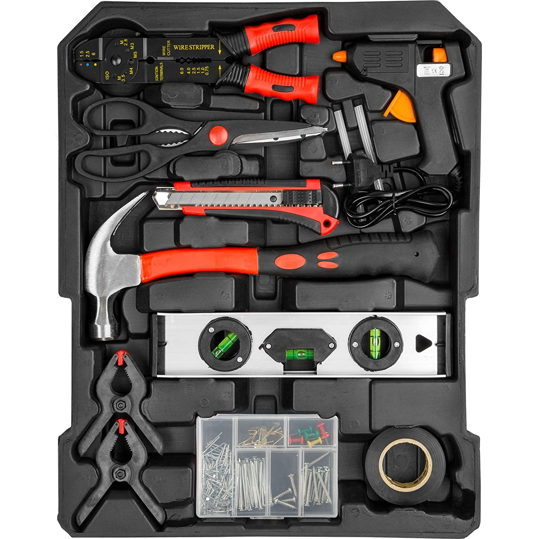 TecTake 577 pi/èces Mallette /à outils trolley valise boite /à tire caisse aluminium 3 tiroirs