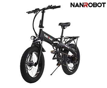NANROBOT N4 - Bicicleta eléctrica Plegable (500 W, neumático de 20 Pulgadas, 48