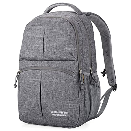 5a50bd6616 Amazon.com: College Backpack for Men Women Water Resistant Travel Backpack  Laptop Backpacks Fits Under 16 Inch Laptop Notebook by BOLANG 8459 (Grey):  ...