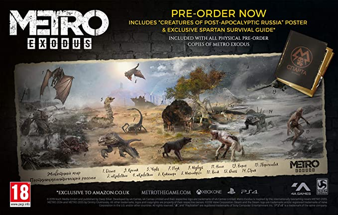 Metro Exodus Aurora Limited Edition + Spartan Survival Guide ...