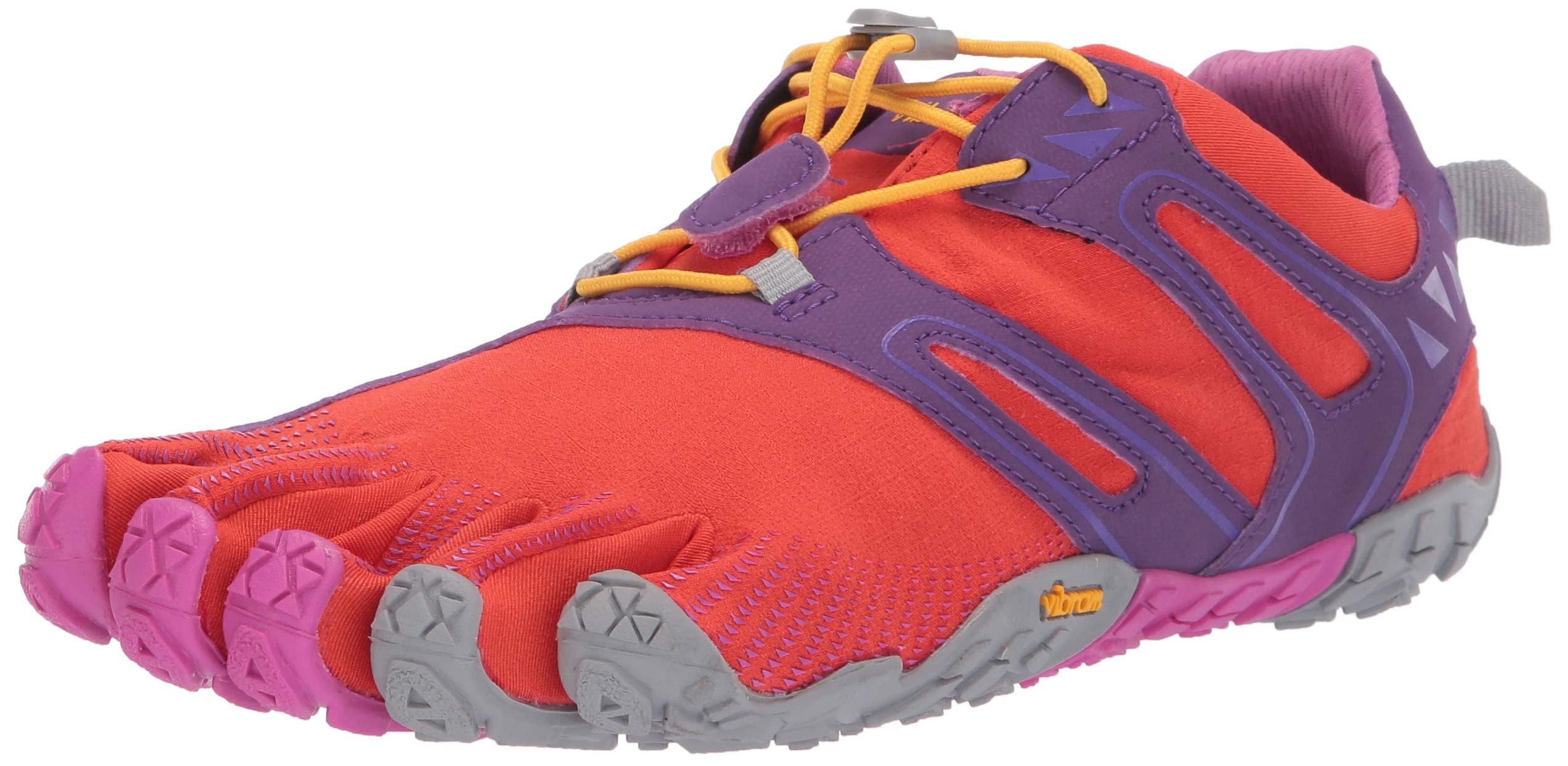 Vibram FiveFingers V-Trail, Women's Trail Running Shoes, Orange (Magenta/Orange), 6-6.5 UK (38 EU) by Vibram (Image #1)