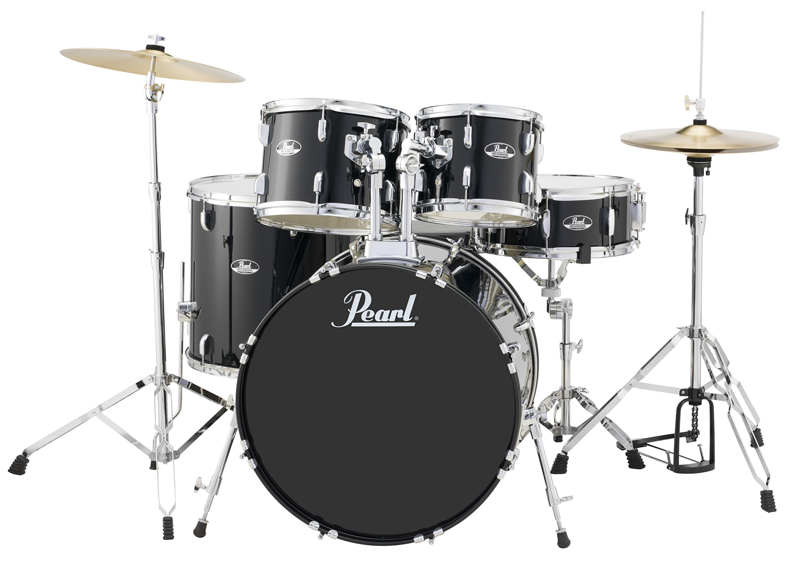 Pearl RS525SCC31 Roadshow 5-Piece Drum Set, Jet Black by Pearl